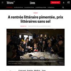 Prix littéraires de la rentrée 2014