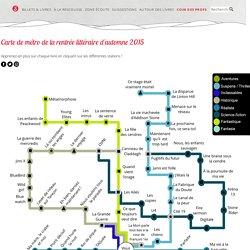 Plan de métro de la rentrée littéraire d'automne 2015 en littérature jeunesse
