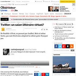 Twitter: un salon littéraire virtuel?