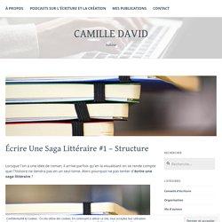 Écrire Une Saga Littéraire #1 – Structure – Camille David