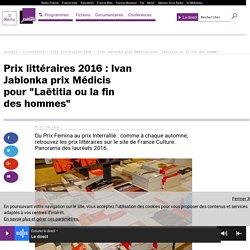 """Prix littéraires 2016 : Ivan Jablonka prix Médicis pour """"Laëtitia ou la fin des hommes"""""""