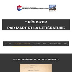 Jeux littéraires - Résister par l'Art et la Littérature (CNRD)