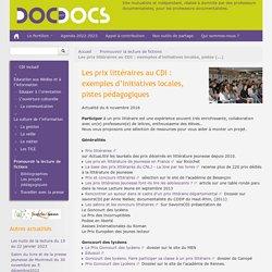 Les prix littéraires au CDI : exemples d'initiatives locales, pistes pédagogiques