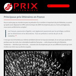 Les Prix Littéraires — Site de Référence