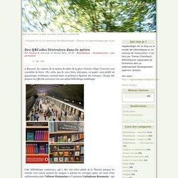 Des QRCodes littéraires dans le métro