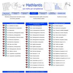 Calcul littéral Fonctions - Mathlantis