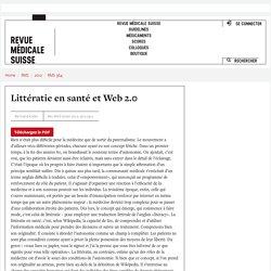 Littératie en santé et Web 2.0 - Revue Médicale Suisse