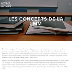 Les concepts de la LMM — Chaire en littératie médiatique multimodale