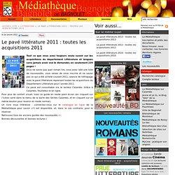 Le pavé littérature 2011