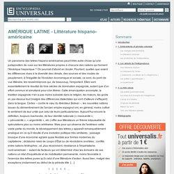 AMÉRIQUE LATINE - Littérature hispano-américaine