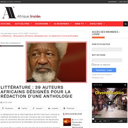 Littérature : 39 auteurs africains désignés pour la rédaction d'une anthologie
