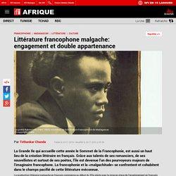 Littérature francophone malgache: engagement et double appartenance
