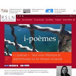 « i-poèmes » : faire rimer littérature et apprentissage sur les réseaux sociaux