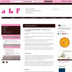 La littérature brésilienne - Association des Bibliothécaires de France - Groupe régional PACA
