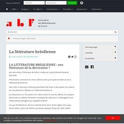 La littérature brésilienne - Association des Bibliothécaires de France - Groupe régional Provence-Alpes-Côte d'Azur