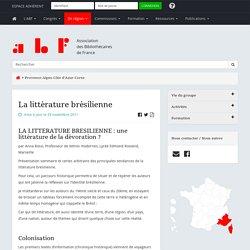 La littérature brésilienne - Association des Bibliothécaires de France - Groupe régional Provence-Alpes-Côte d'Azur-Corse