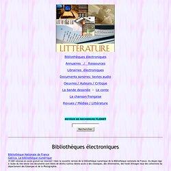 littérature française, ressources, audio, auteurs, oeuvres, FLENET