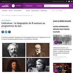 Littérature : la biographie de 8 auteurs au programme du bac