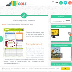 Carnet de lecture en ligne TICE
