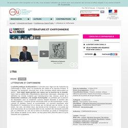 Littérature et chiffonnerie - Université de Rouen