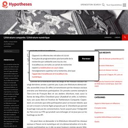 Littérature comparée / Littérature numérique