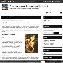 le cheval et la littérature - Concours de revue de presse numérique 2015