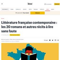 Littérature française contemporaine : les 20 romans et autres récits à lire sans faute