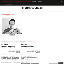 CH litterature.ch » Daniele Bernardi