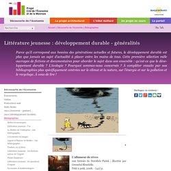 Littérature jeunesse : développement durable - généralités