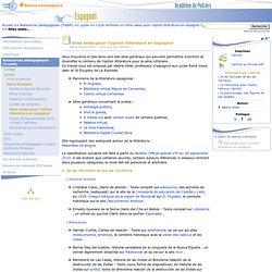 Sites webs pour l'option littérature en espagnol- Espagnol