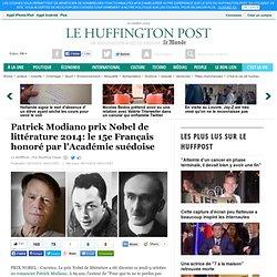 Patrick Modiano prix Nobel de littérature 2014: le 15e Français honoré par l'Académie suédoise