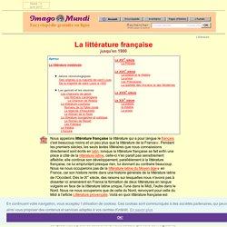 Littérature française.