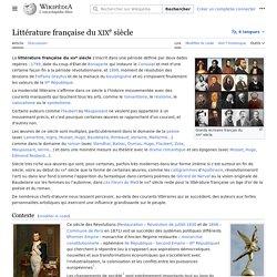 Littérature française du XIXesiècle