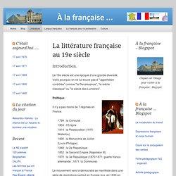 0. La littérature française au 19e siècle