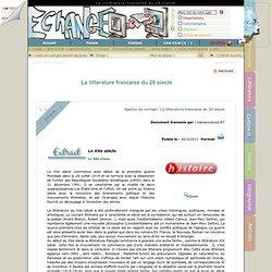La litterature francaise du 20 siecle