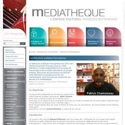 La littérature antillaise francophone - Médiathèque de Meyzieu