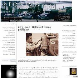 Gallimard versus publie.net