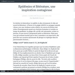 Epidémies et littérature, une inspiration contagieuse