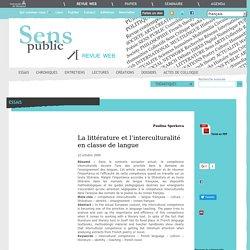 La littérature et l'interculturalité en classe de langue