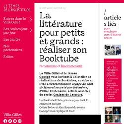 La littérature pour petits et grands : réaliser son Booktube - Assises Internationales du Roman 2020 - Entrez dans la Villa