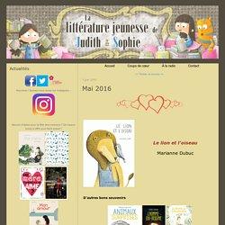 Mai 2016 - La littérature jeunesse de Judith et Sophie