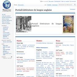 Littérature de langue anglaise