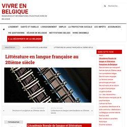 Littérature en langue française au 20ième siècle