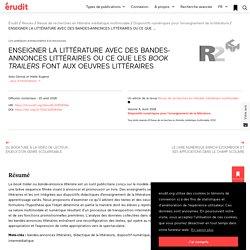 ENSEIGNER LA LITTÉRATURE AVEC DES BANDES-ANNONCES… – Revue de recherches en littératie médiatique multimodale