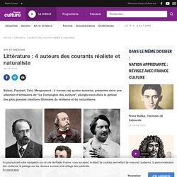 Littérature : 4 auteurs des courants réaliste et naturaliste