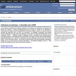 Littérature et numérique : à Grenoble avec l'AFEF