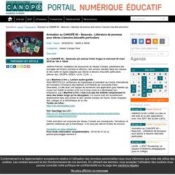 Animation au CANOPÉ 60 - Beauvais : Littérature de jeunesse pour élèves à besoins éducatifs particuliers - Portail TICE