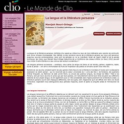 Manijeh Nouri-Ortega, La langue et la littérature persanes