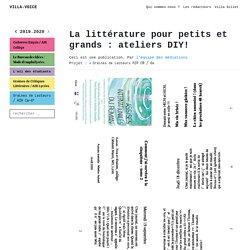 ateliers Villa Gillet - Graînes de lecteurs
