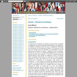Dossier littérature et politique: présentation